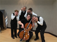 The WannaBeatles On Tour - with annoyed cellist